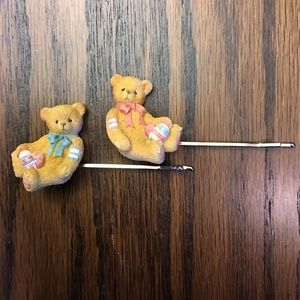 Accessories - Teddy Bear Bobby Pins Hair Jewelry